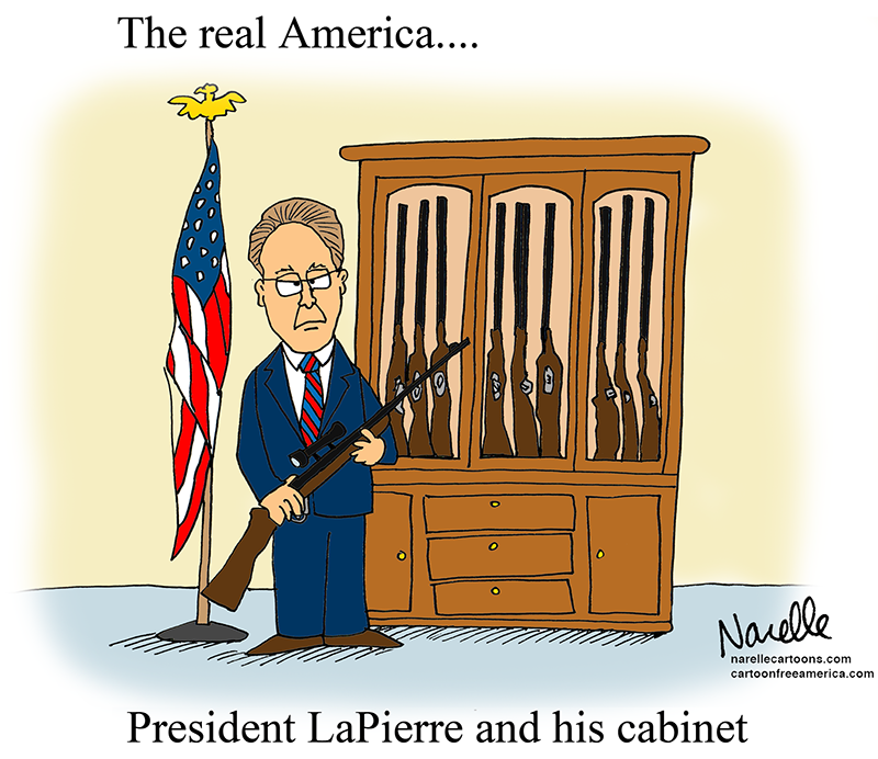 President LaPierre and his cabinet - Brian Narelle