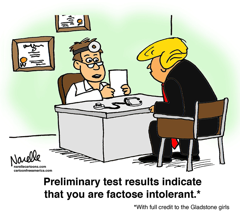 Preliminary test results indicate that you are factose inteolerant - Brian Narelle