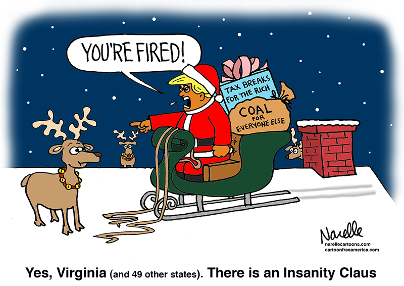 Trump Insanity Claus - Brian Narelle