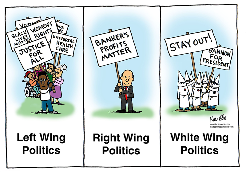 Left Wing, Right Wing, White Wing Politics - Brian Narelle