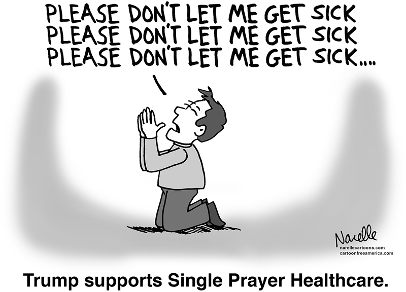 Trump supports Single Prayer Healthcare - Brian Narelle
