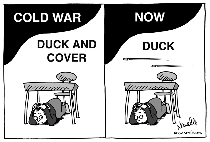 Duck and Cover, then and now - Brian Narelle