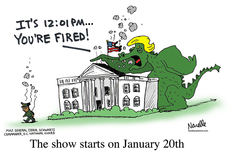 ''It's 12:01 PM... You're Fired!'' The show starts on January 20th - Brian Narelle